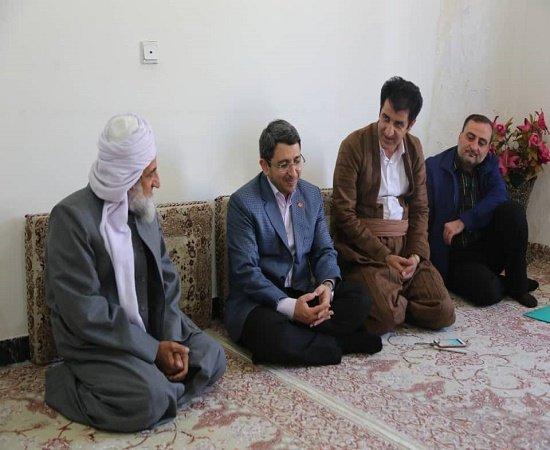 کردستان| مریوان| دیدار صمیمانه رییس سازمان بهزیستی دکتر وحید قبادی دانا با امام جمعه مریوان