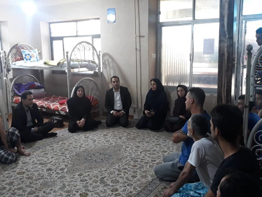 گیلان | بازدید دکتر حسین نحوی نژاد از مرکز اقامتی میان مدت آوای رهایی گیل رشت