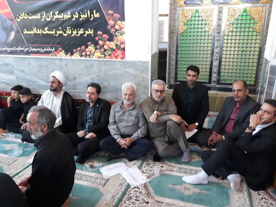 گیلان | حضور دکتر حسین نحوی نژاد در مراسم سوم پدر شهید مدافع حرم محمد اتابه