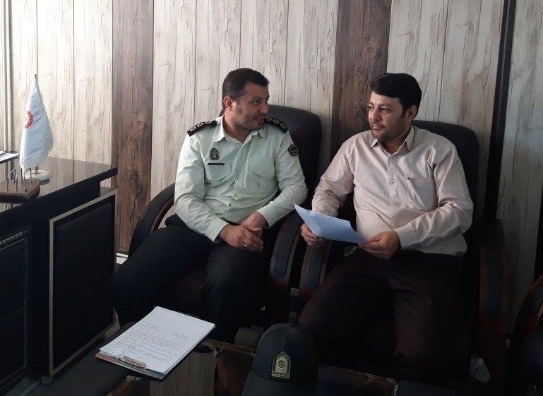 همدان |کبودراهنگ|نشست مشترک نیروی انتظامی و بهزیستی شهرستان کبودراهنگ