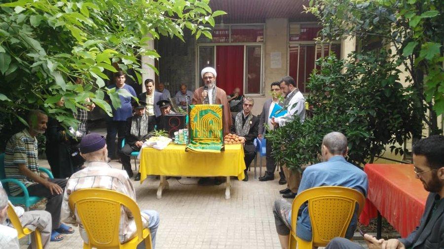 گلستان حضور خدام حضرت علی بن موسی الرضا (ع)در جمع سالمندان بهزیستی