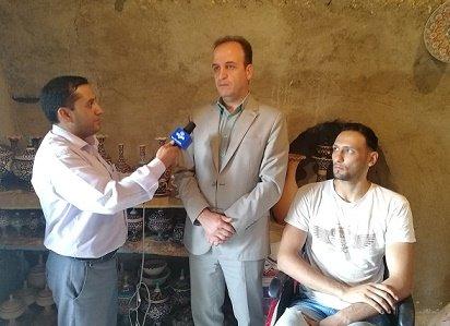 همدان| بهار |تهیه گزارش خبری از معلولین موفق اشتغال یافته بمناسبت هفته بهزیستی