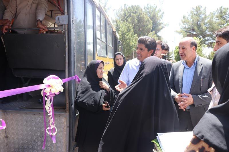 کرمان رونمایی از اتوبوس مناسب سازی شده موسسه رعد در نمازجمعه کرمان