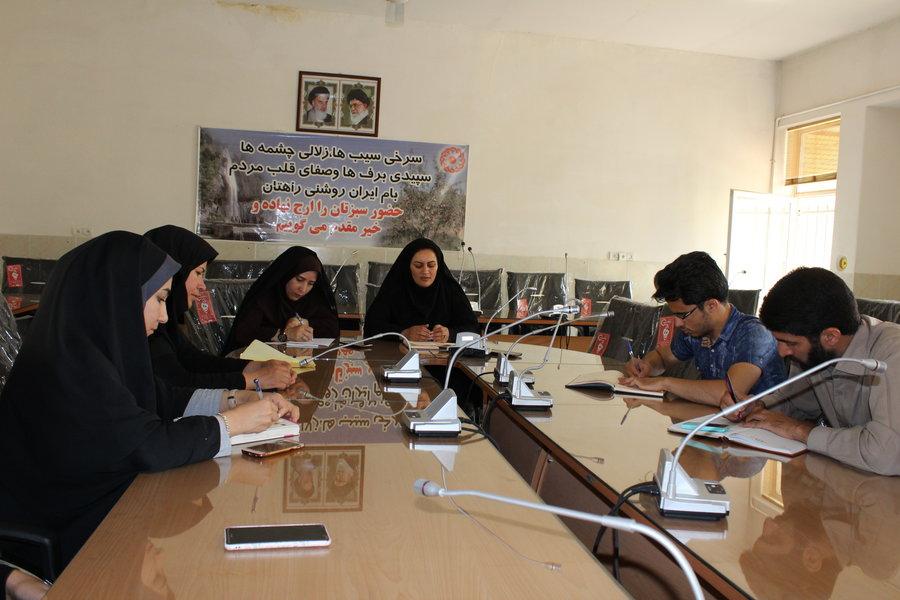اصفهان| سمیرم| نشست خبری ریاست اداره بهزیستی با اصحاب رسانه