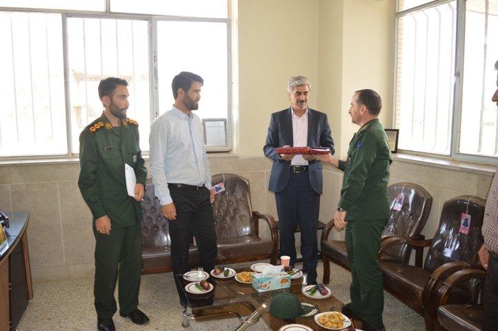 اصفهان| چادگان| دیدار فرماندهی ناحیه مقاومت بسیج شهرستان با پرسنل اداره بهزیستی