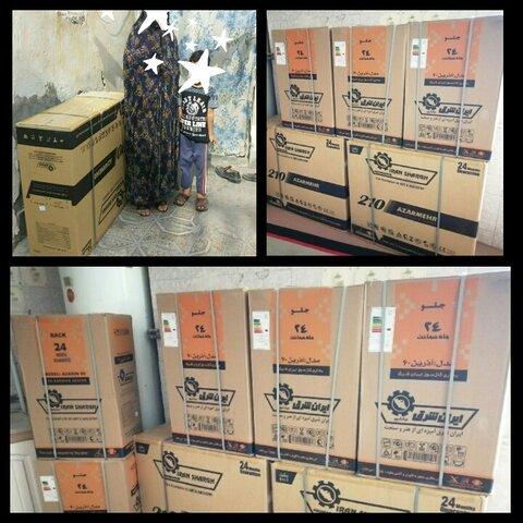 اهدا تعداد 25 عدد بخاری  خانواده های کودکان کار و خیابانی شهرستان بیرجند