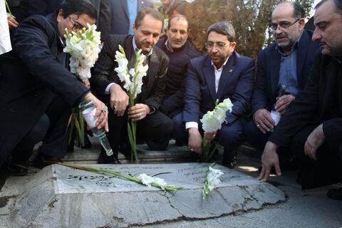 مراسم قبار روبی از مزار شهدای انقلاب اسلامی و شهدای سازمان بهزیستی