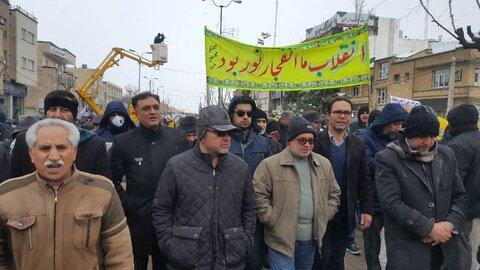 گزارش تصویری| حضور مدیرکل و کارکنان بهزیستی استان در راهپیمایی 22 بهمن