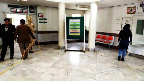 ضدعفونی و گندزایی محیط های ادارات بهزیستی استان کرمانشاه در راستای مقابله با ویروس کرونا