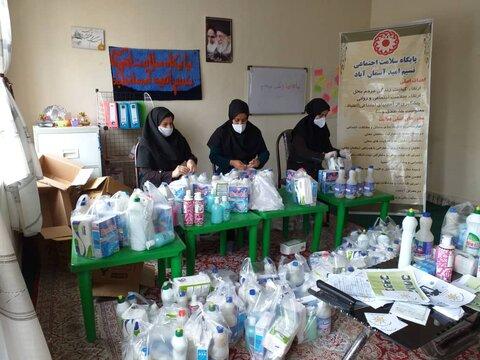 گزارش تصویری/توزیع اقلام بهداشتی در مناطق حاشیه شهرها