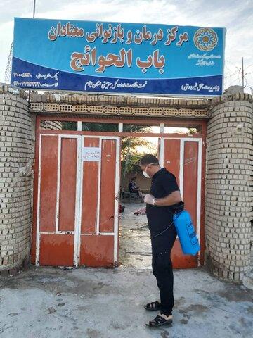 مهران/ گزارش تصویری/ گندزدایی مراکز ترک اعتیاد مهران