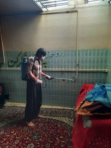 ایلام/گزارش تصویری/ ضد عفونی مراکز ترک اعتیاد ایلام