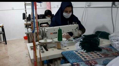 گزارش تصویری/ کارگاه تولید ماسک ایوان