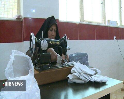 تولید ماسک برای مددجویان بهزیستی چهارمحال و بختیاری