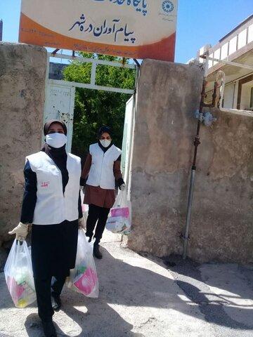 دره شهر/ گزارش تصویری/فعالیت پایگاه خدمات اجتماعی برای مقابله با کرونا