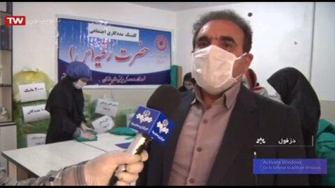 فیلم گزارش خبر صدا و سیمای خوزستان از کارگاه تولید ماسک و گان بهزیستی دزفول