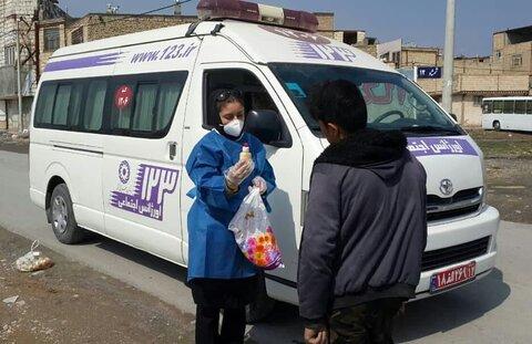 تصویر | آموزش و اهدای اقلام بهداشتی به کودکان کار و خیابانی