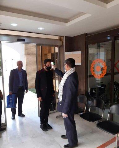 تب سنجی کارکنان ستاد  بهزیستی استان یزد