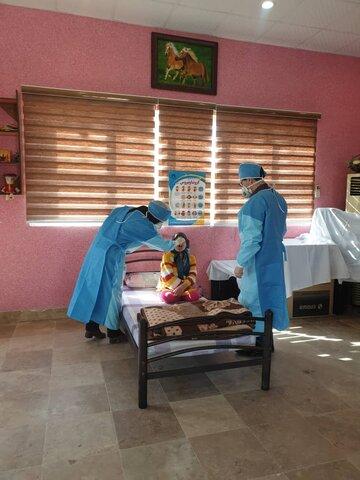 گزارش تصویری فعالیت مراکزشبانه روزی  توانبخشی قم ( مرکز جامع رضوان )با رعایت  کامل ضوابط بهداشتی