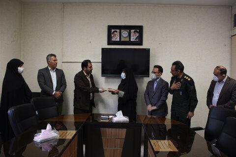 فرمانده جدید بسیج پایگاه بسیج شهید کشفی بهزیستی استان کرمانشاه منصوب شد