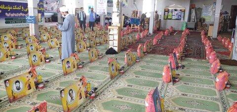 توزیع 1000 بسته مواد غذایی در شهرستان شیروان