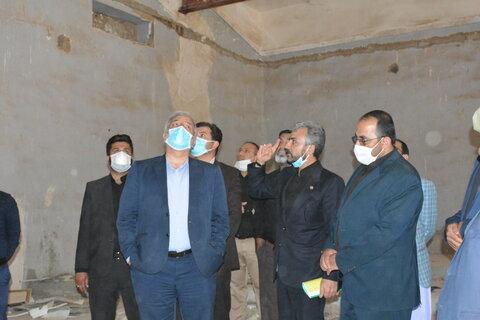 بازدید استاندار و فرماندار زاهدان از مراکز نگهداری و کمپ ها