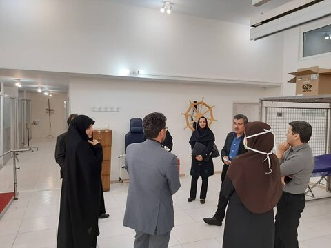 گزارش تصویری   بازدید معاون پشتیبانی و معاون توانبخشی بهزیستی البرز از بهزیستی شهرستان کرج