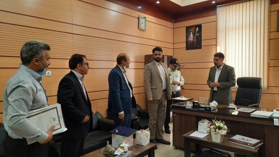 فردیس   دیدار رئیس بهزیستی با مسئولین دستگاه قضا شهرستان فردیس