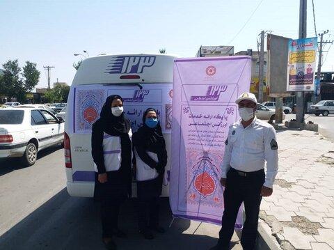 گزارش تصویری | مانور اورژانس در شهرستان های استان کرمان