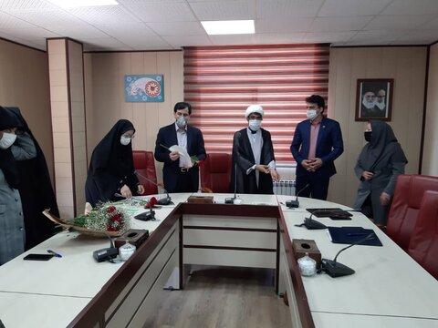 مراسم تجلیل از سادات از بهزیستی استان البرز