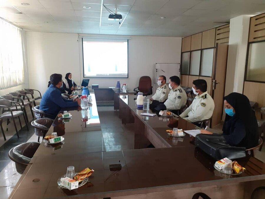 ملارد|نشست مشترک بهزیستی و نیروی انتظامی در ملارد برگزار شد