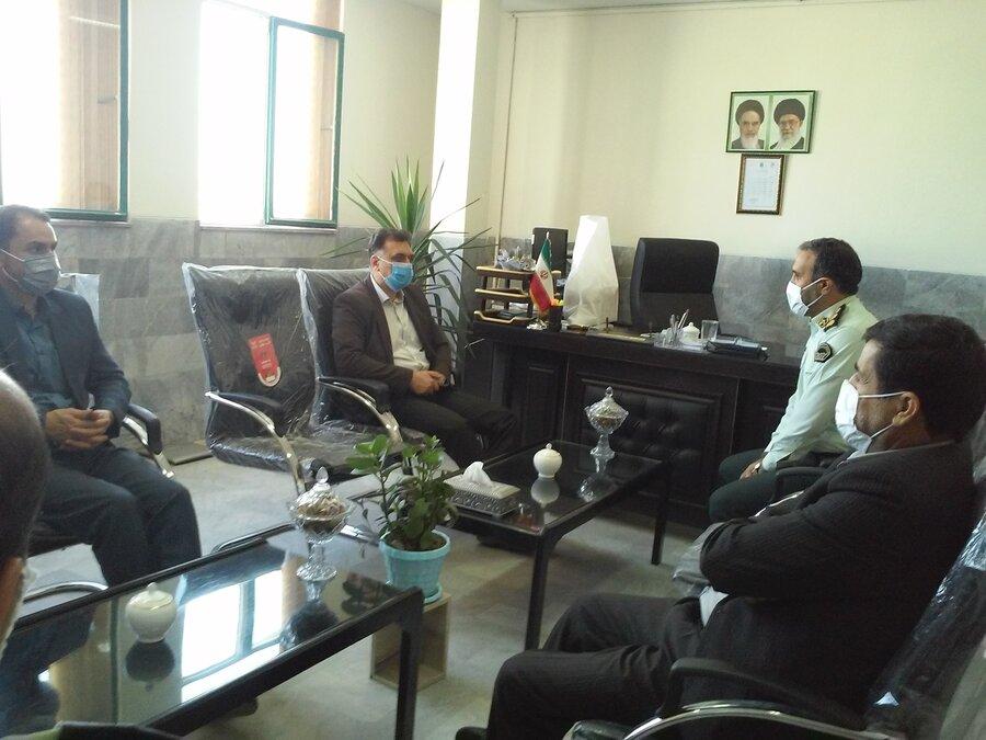 نشست مشترک حوزه معاونت تربیت و آموزش فرماندهی انتظامی و اداره کل بهزیستی استان