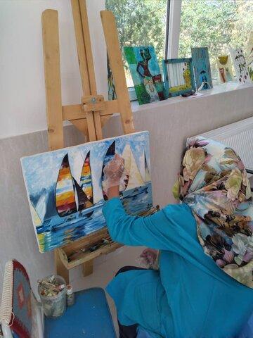 شاهرود | گزارش تصویری | آثار هنری تولیدی توانخواهان مرکز دختران سمیه
