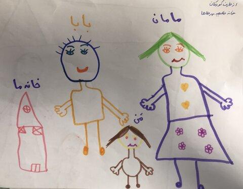 هدیه فرزندان مرکز شبه خانواده مهر طه به مدیر کل بهزیستی استان تهران