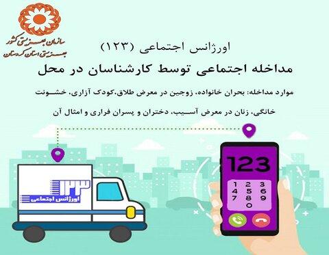 اینفوگرافی/ کردستان / معرفی اورژانس اجتماعی کردستان