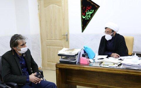دیدار مدیر روابط عمومی بهزیستی استان با حجت الاسلام مرادی رئیس دفتر نماینده ولی فقیه در لرستان