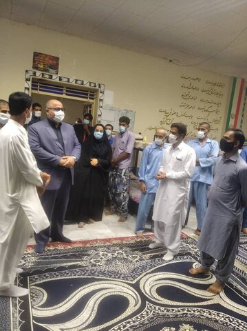 بازدید معاون توسعه پیشگیری بهزیستی سیستان و بلوچستان از مراکز اقامتی میان مدت درمان اعتیاد  ایرانشهر