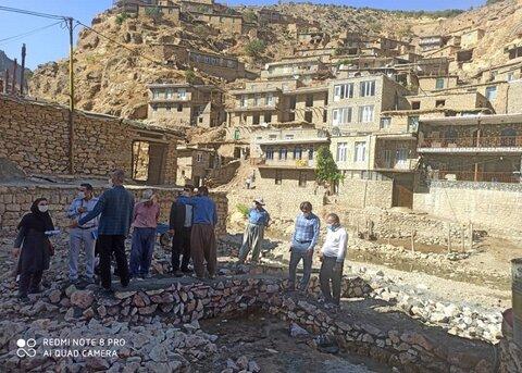 کامیاران / بازدید تیم سیار مناسب سازی کامیاران از روستایی در انتظار ثبت جهانی