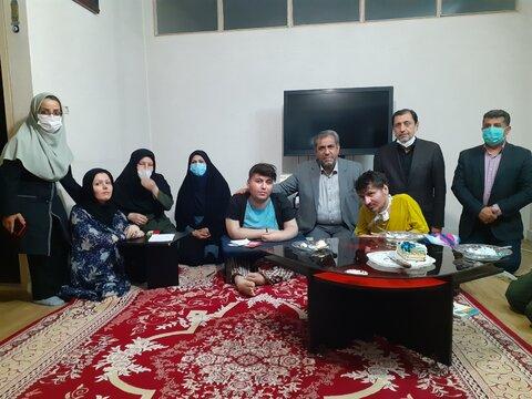 گزارش تصویری | بازدید استاندار قزوین از خانواده سه معلولی