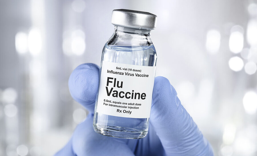 Influenza vaccine injection for older persons and SWO's clients