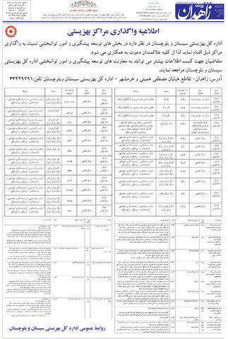 فراخوان واگذاری مراکز تحت نظارت بهزیستی استان سیستان و بلوچستان