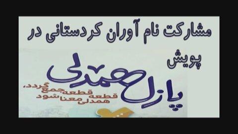 فیلم/ مشارکت پیشکسوتان ورزشی کردستانی در  پویش پازل همدلی