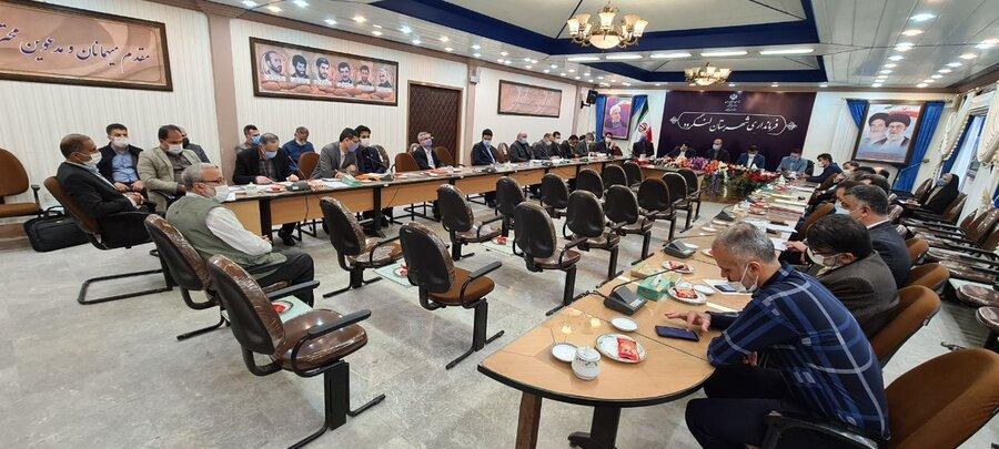 برگزاری جلسه شورای مسکن شهرستان در فرمانداری لنگرود