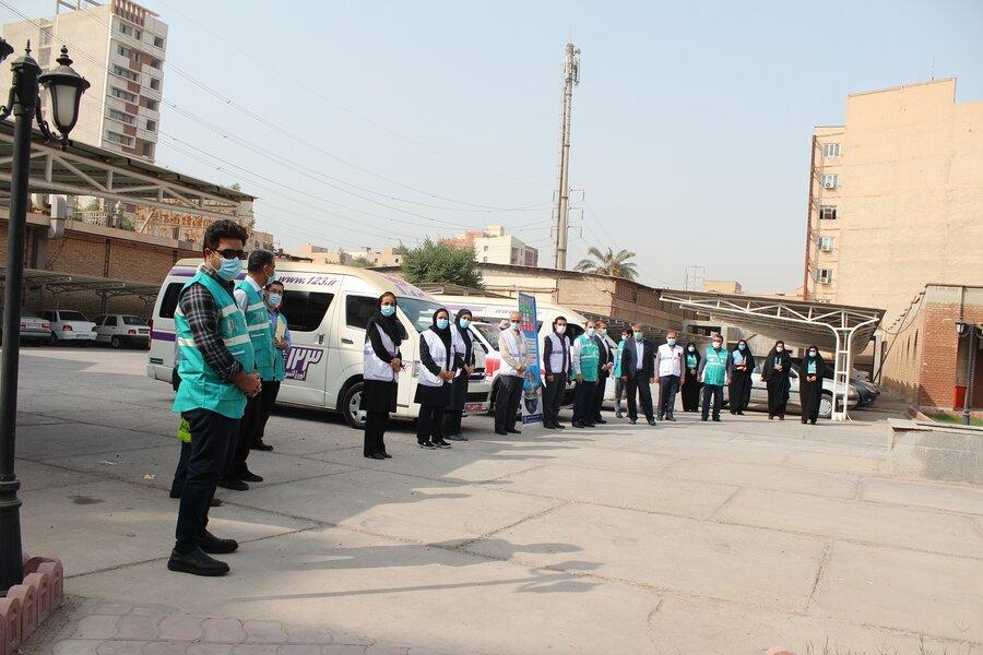 مانور پدافند غیر عامل بهزیستی خوزستان