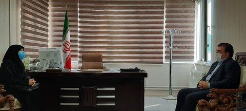 دیدار مدیرکل بهزیستی آذربایجان شرقی با فرماندار بستان آباد