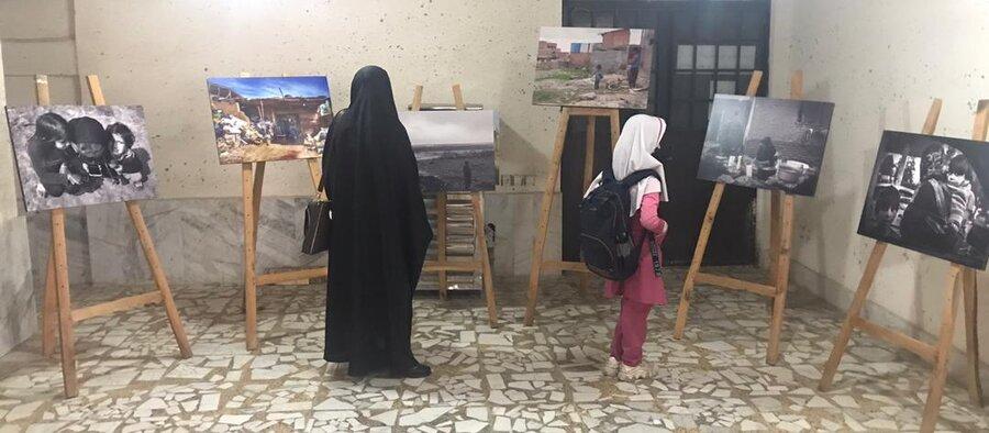 نمایشگاه عکس پیشگیری از آسیب های اجتماعی در اداره بهزیستی شهرستان مینودشت برگزار شد