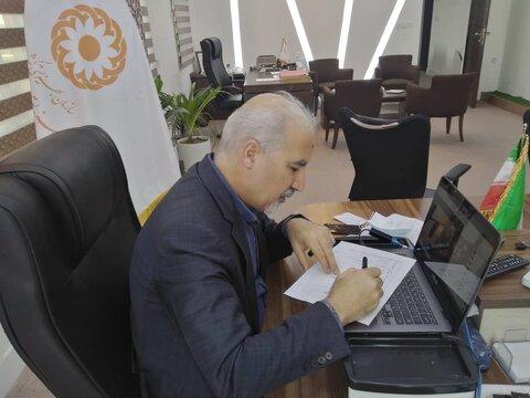 ملاقات  مردمی مدیر کل بهزیستی استان با مددجویان شهرستانها بصورت آنلاین برگزار شد