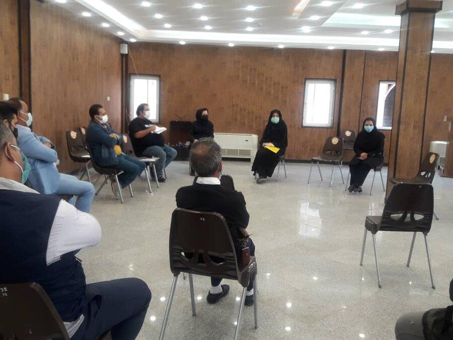 شهرقدس| نشست بررسی مسائل بهداشتی مراکز ترک اعتیاد
