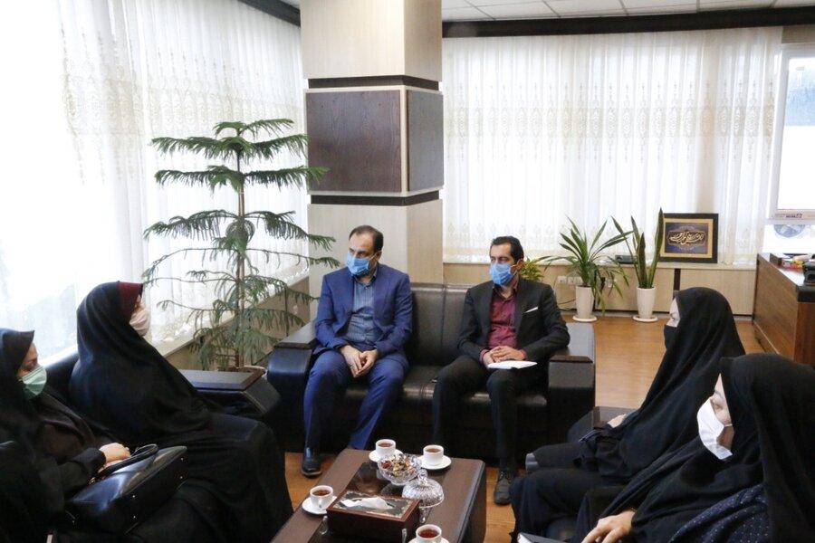 نشست مدیرکل بهزیستی گلستان با مدیرکل دفتر اموربانوان و خانواده استان