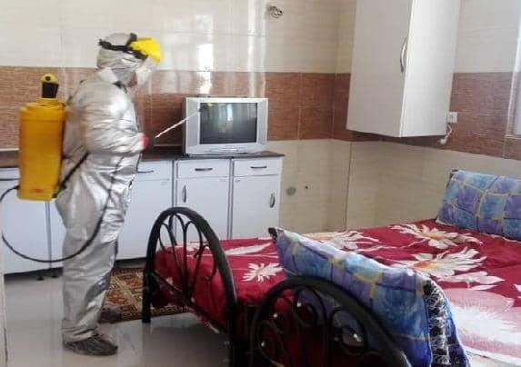پاکدشت|همکاری آتش نشانی در ضدعفونی کردن مراکز بهزیستی